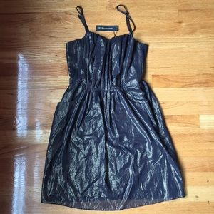 NEW Sasha Dress in Metallic Gold